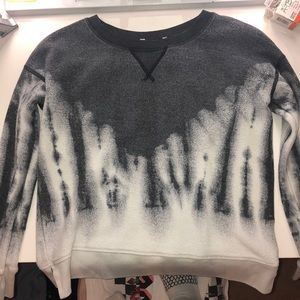 Dark grey and white American Eagle sweatshirt